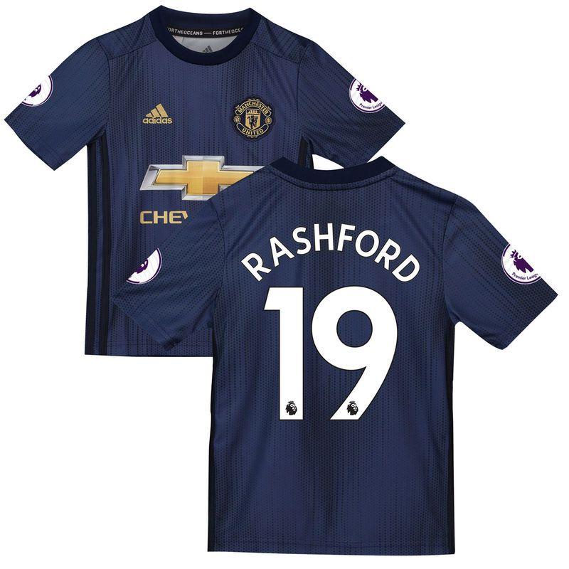 Marcus Rashford Manchester United adidas Youth 2018 19 Third Replica Player  Jersey – Navy e33ffe2e8