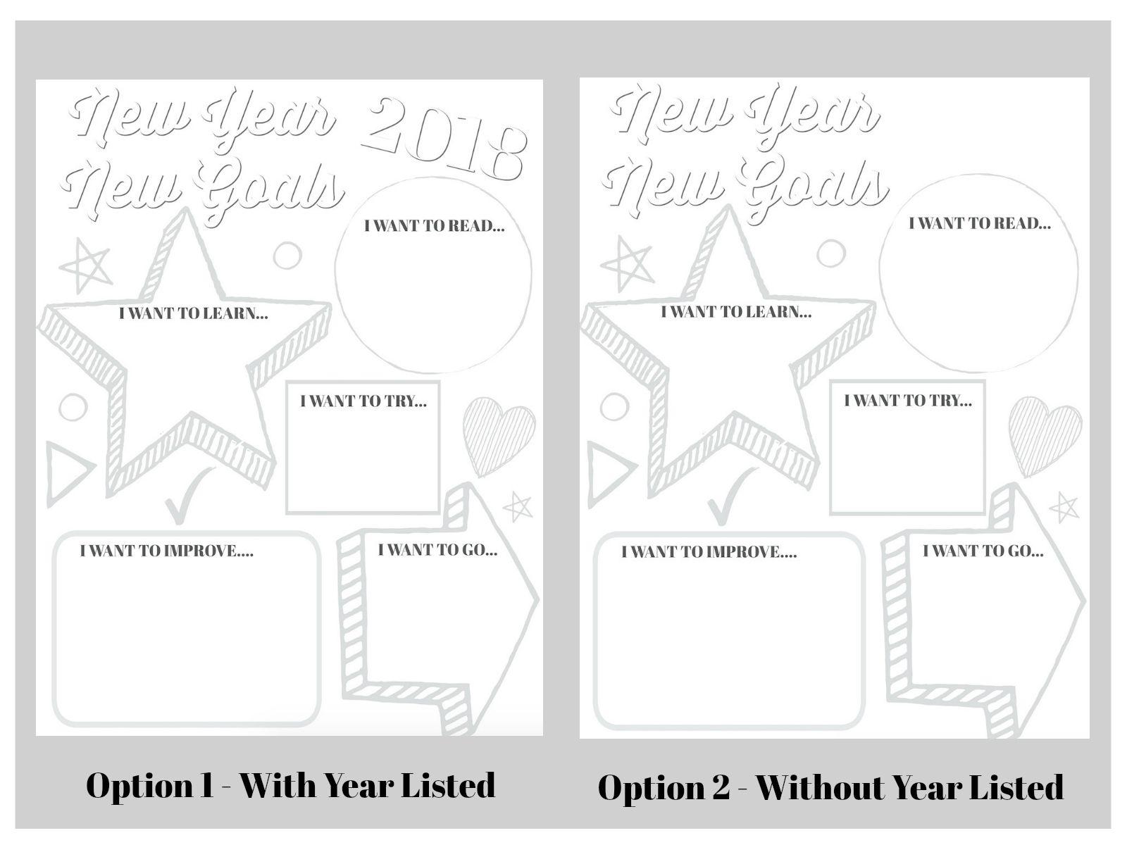 Goal Setting Printable For Kids