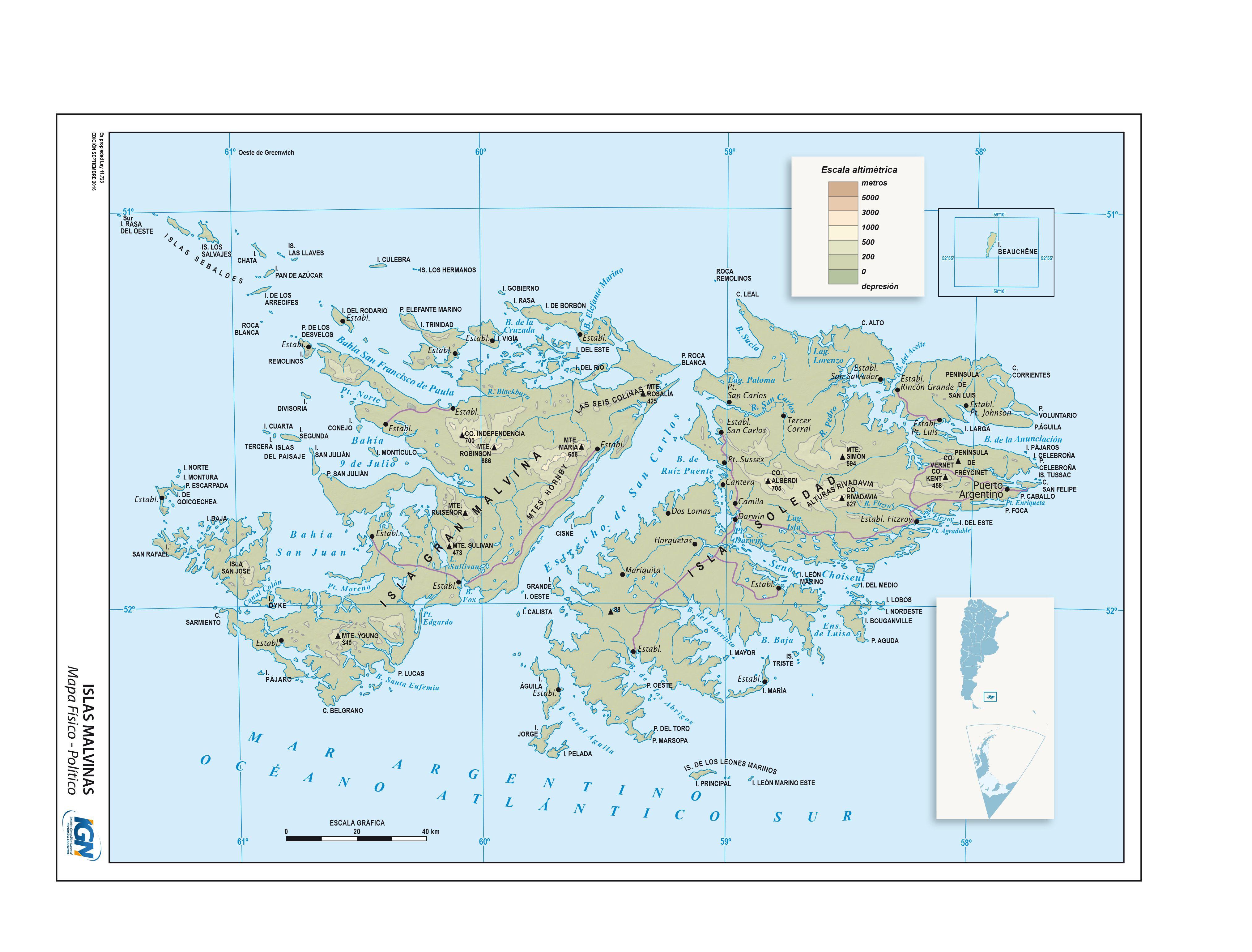 Mapa Fisico Politico De Las Islas Malvinas Instituto Geografico Nacional De La Republica Argentina Mapa Escolar Mapa De Argentina Dibujos De Tatuaje De Buho