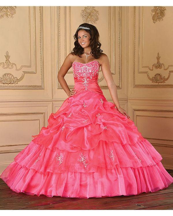 BallGown Strapless Taffeta Floor-length Quinceanera Dress