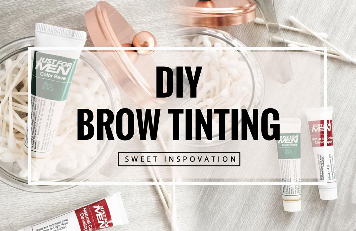 DIY Brow Tinting. Easy, at home Process Brow tinting