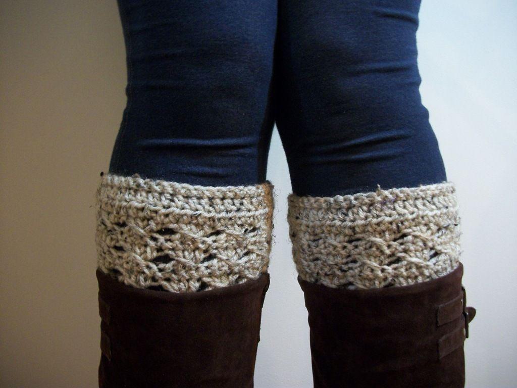 free crochet boot cuff patterns   Knots and Loops: Boot Cuffs ...