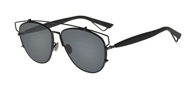 283e33734e Dior Technologic 065Z-2K Black Aviator Sunglasses