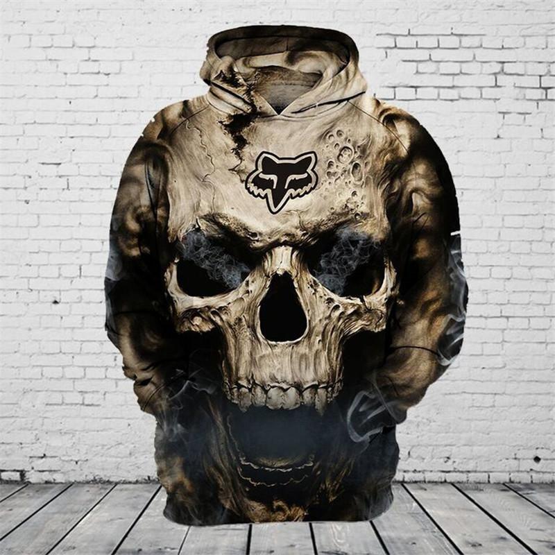 Sweat A Capuche Tete De Mort Mens Sweatshirts Hoodie Biker Outfit Mens Outfits