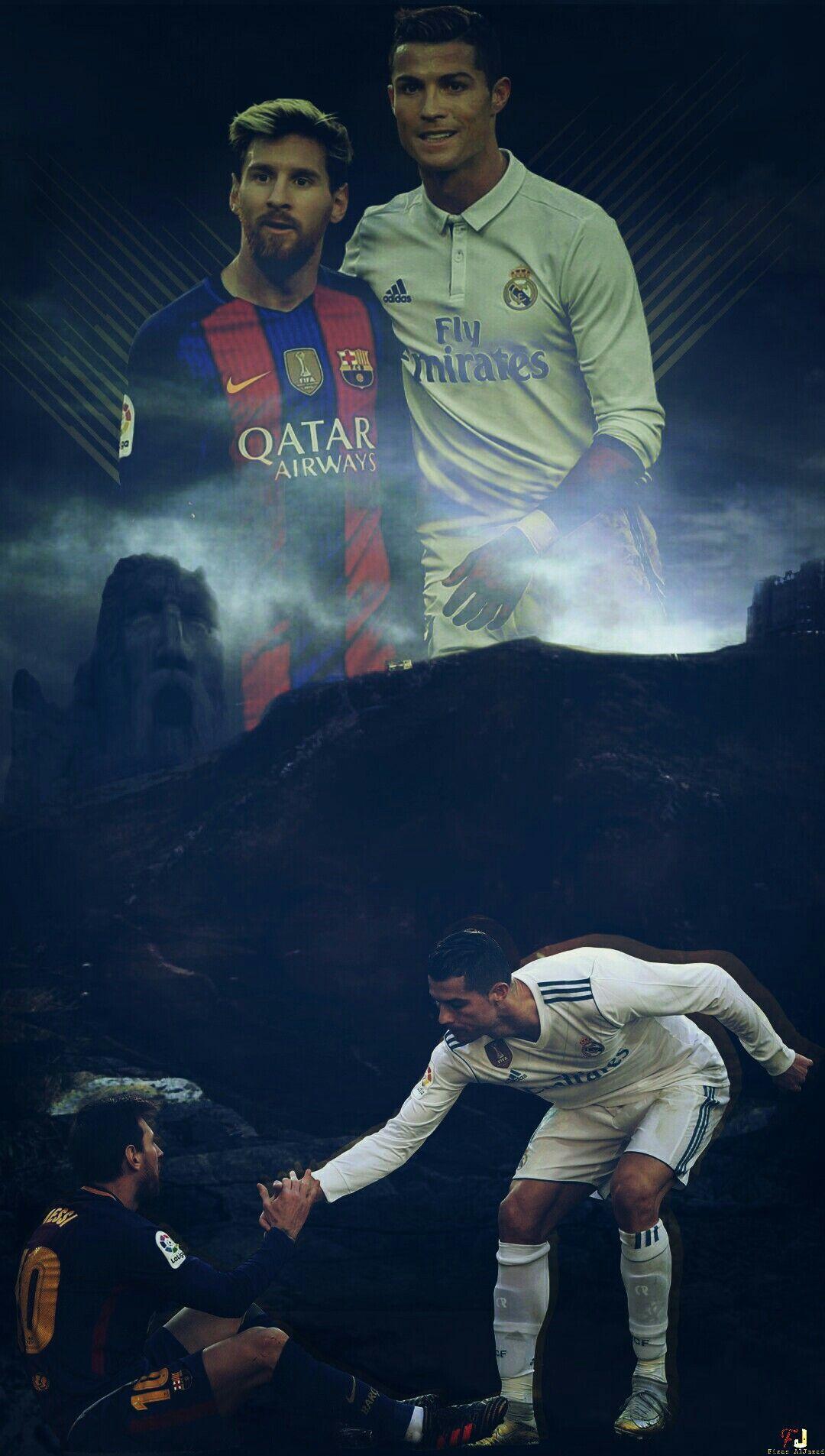 wallpaper messi & ronaldo | bóng đá | pinterest | messi, ronaldo and