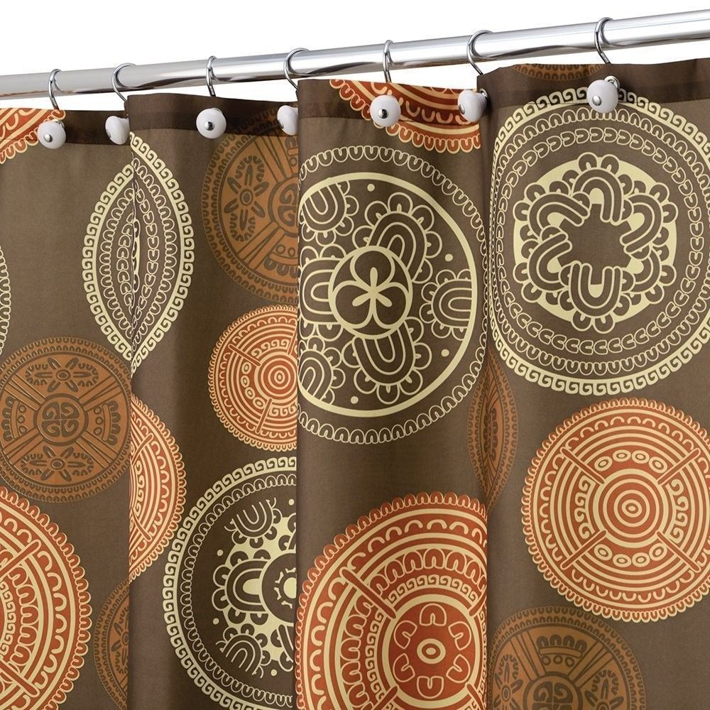 Brown And Burnt Orange Shower Curtain Orange Shower Curtain Orange Bathroom Decor Brown Shower Curtain