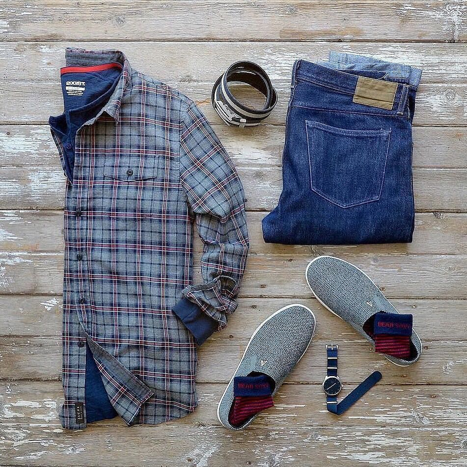 Blue flannel outfits for guys  Pin by RAD Creatives on Be Dapper About Life  Pinterest  Dapper