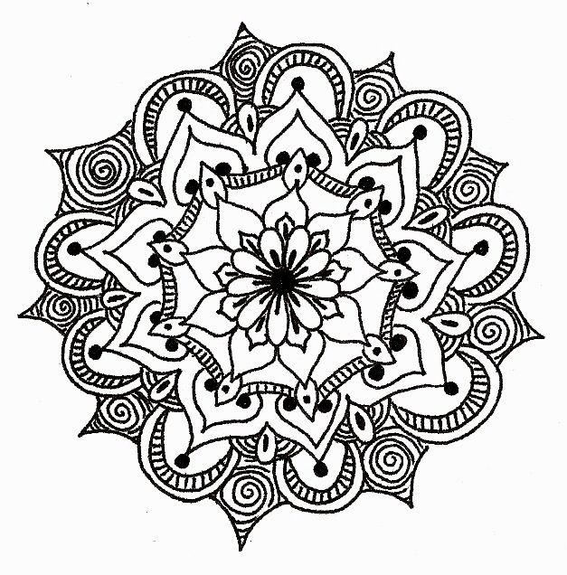 half flower coloring pages - photo #24
