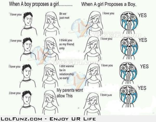 Difference Between Boys and Girls Proposal | LolFunz com