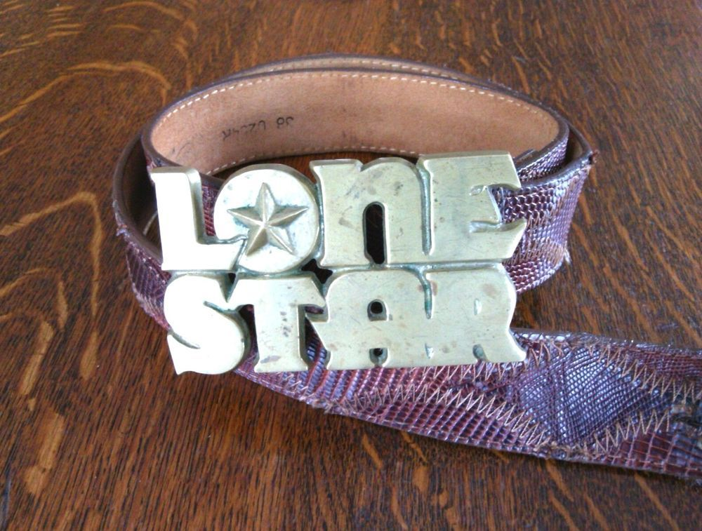 Details about Lone Star Justin Belts Size 38'' Solid Brass