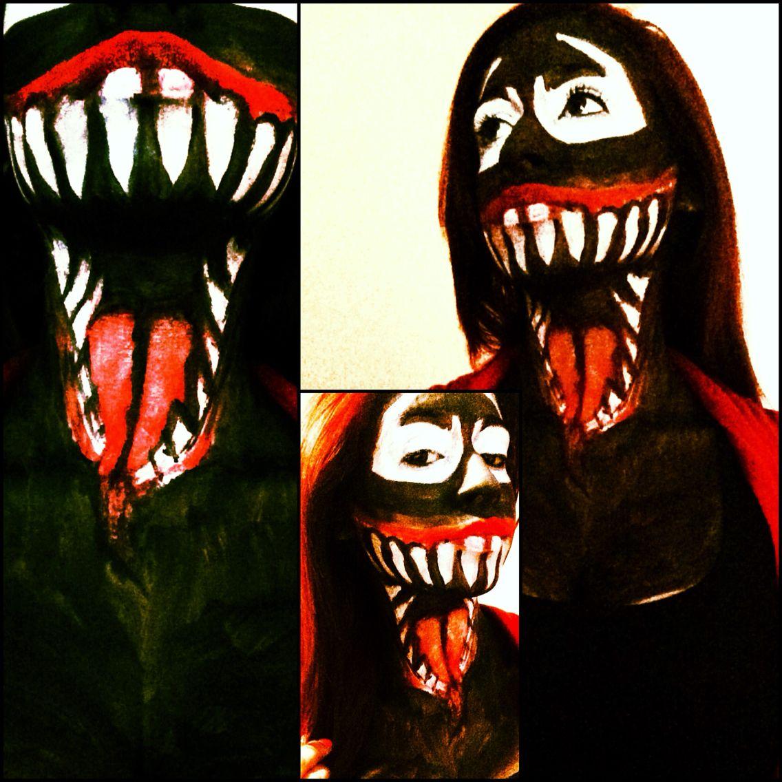 SFX Venom Face Paint for Halloween =D | Хэллоуин