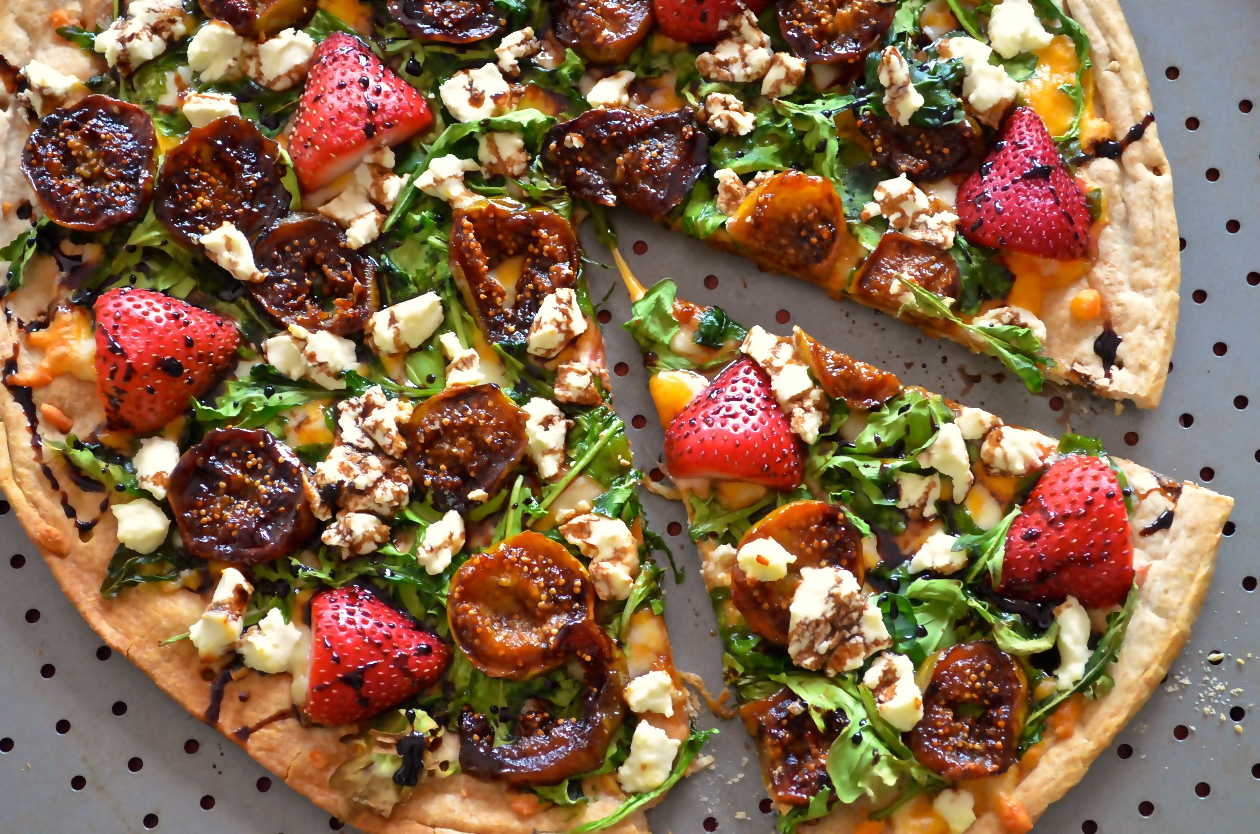 Caramelized Figs Goat Cheese Pizza With Balsamic Glaze Recipe Goat Cheese Pizza Goat Cheese Balsamic Glaze Recipes