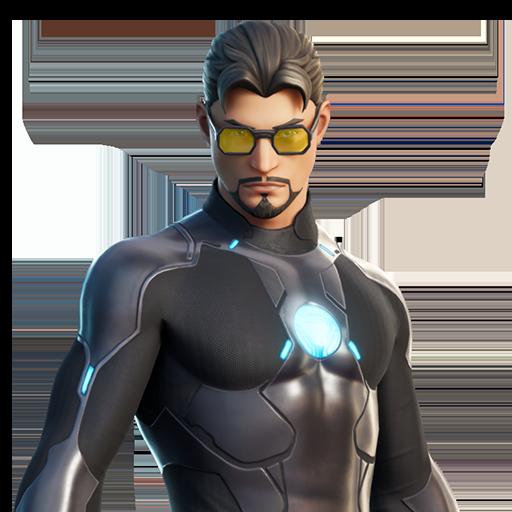 All Fortnite Skins Database Fortniteskin Com Fortnite Tony Stark Dark Wings