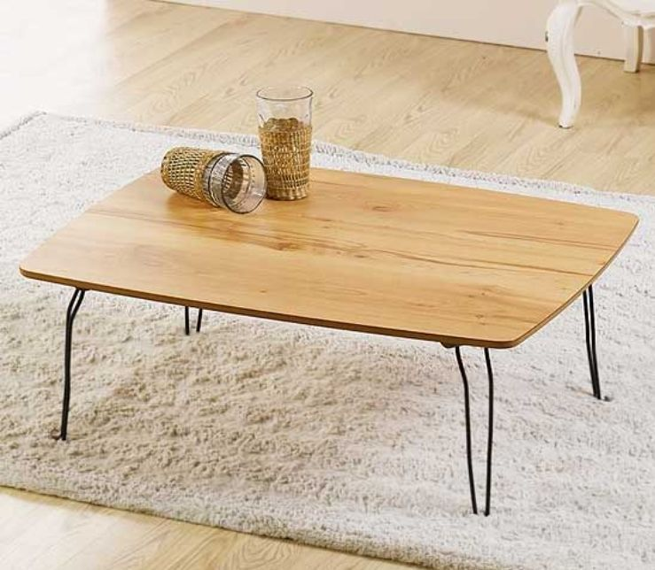 Details about slim floor table folding japanese style low - Slim folding dining table ...