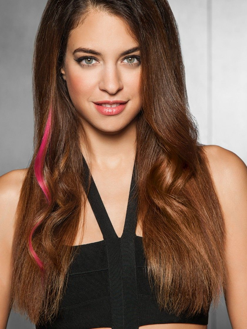 Clip In Color Strips Human Hair Extensions By Put On Pieces Human
