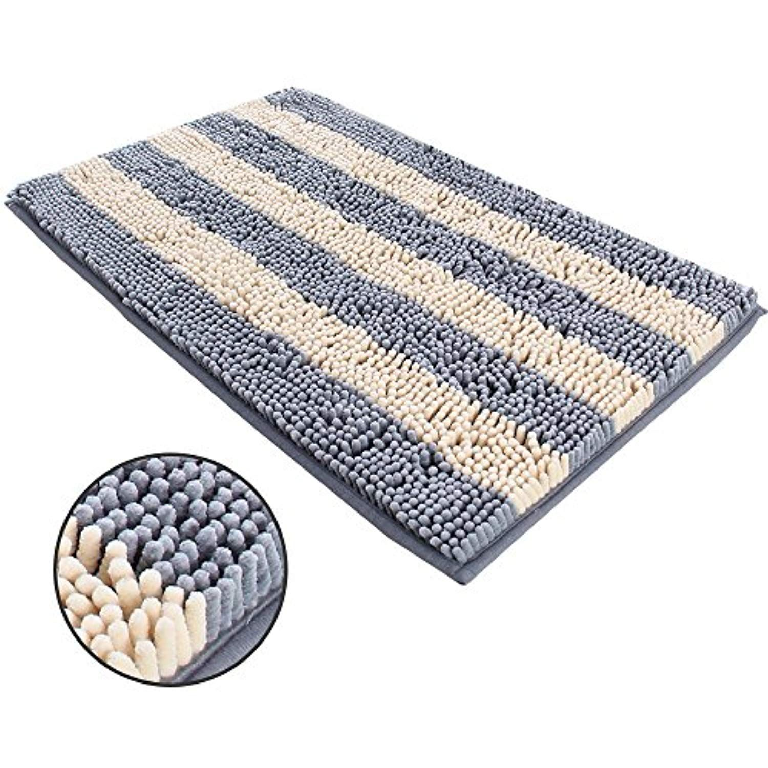 Ihoming Pet Mud Rugs Bowl Bed Mat Absorbent Microfiber Chenille
