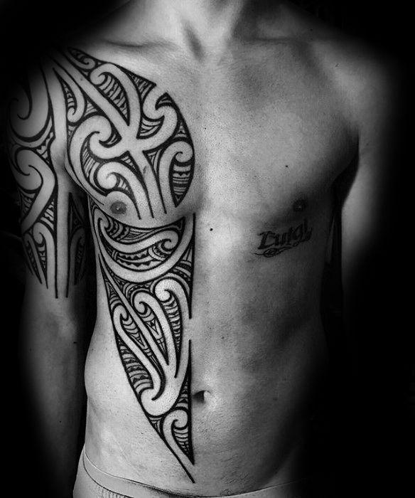 71 Sick Tribal Tattoo Ideas 2020 Inspiration Guide Tribal Tattoos For Men Tattoos For Guys Rib Tattoos For Guys