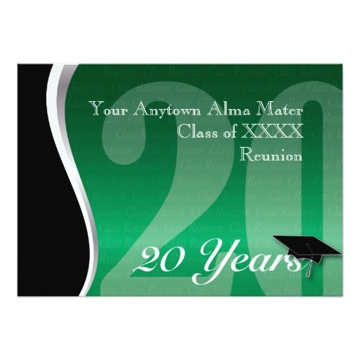 Customizable 20 Year Class Reunion Card | Reunions, Invitations and ...