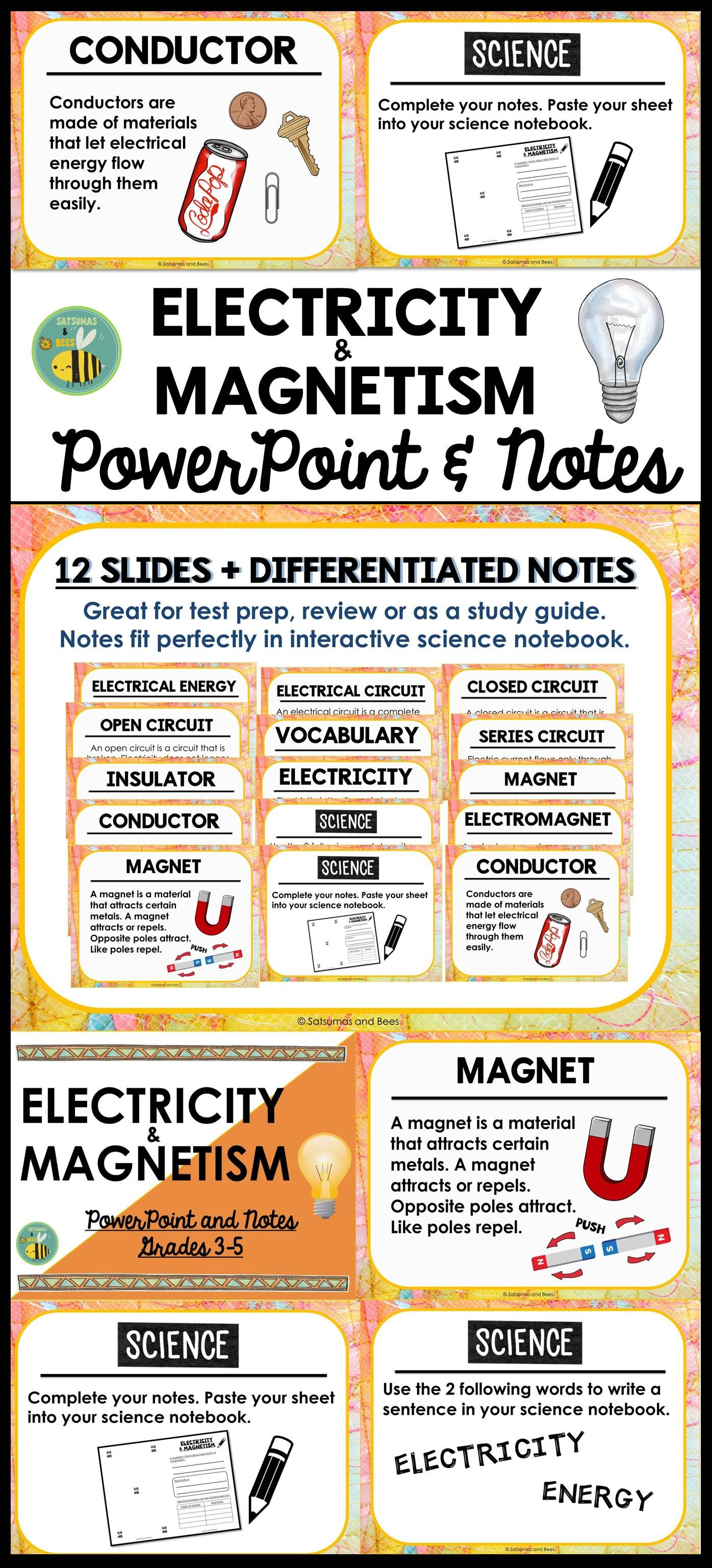 Electricity And Magnetism Powerpoint Notes Blank Template Lessons In Electrical Circuit This Student Friendly Resource Will Introduce Your Students To Circuits
