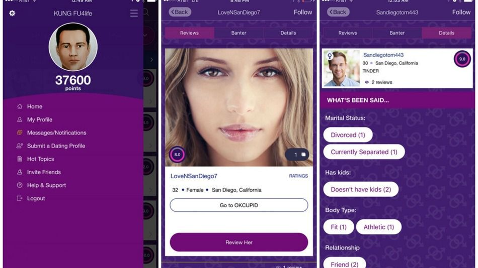 There's another app for rating people — if they're using dating sites - http