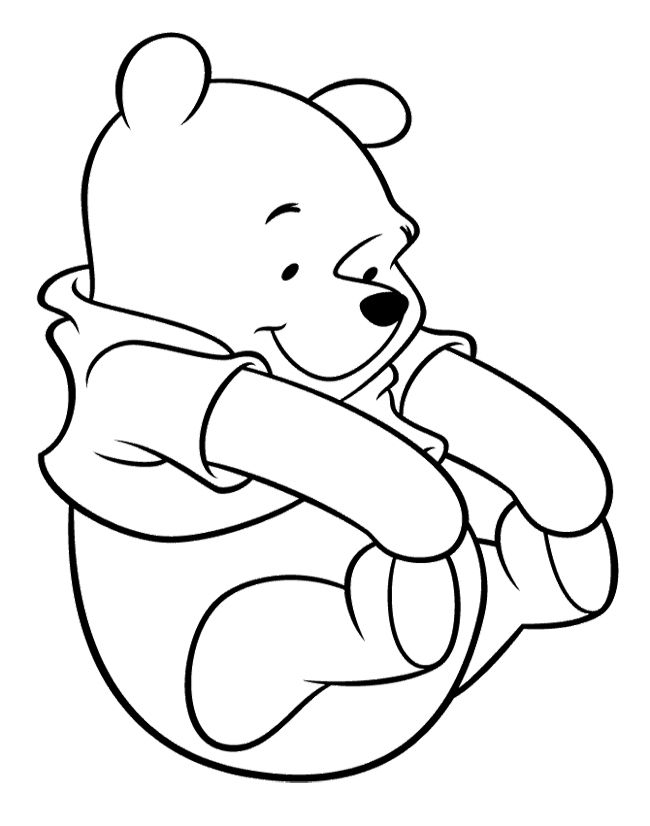 cutest winnie the pooh coloring page - Pooh Bear Coloring Pages