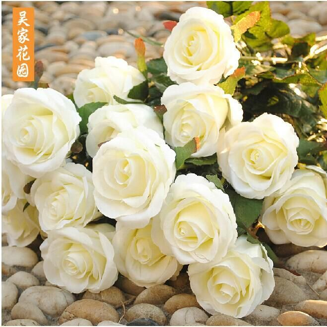 New Styles Artificial Rose Silk Craft Flowers Real Touch Flowers For ...