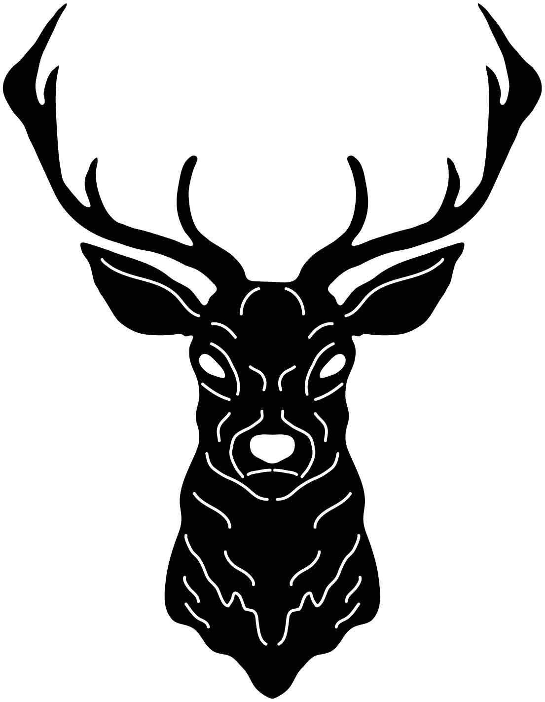 Deer head free dxf file cnc deer cnc wood carving