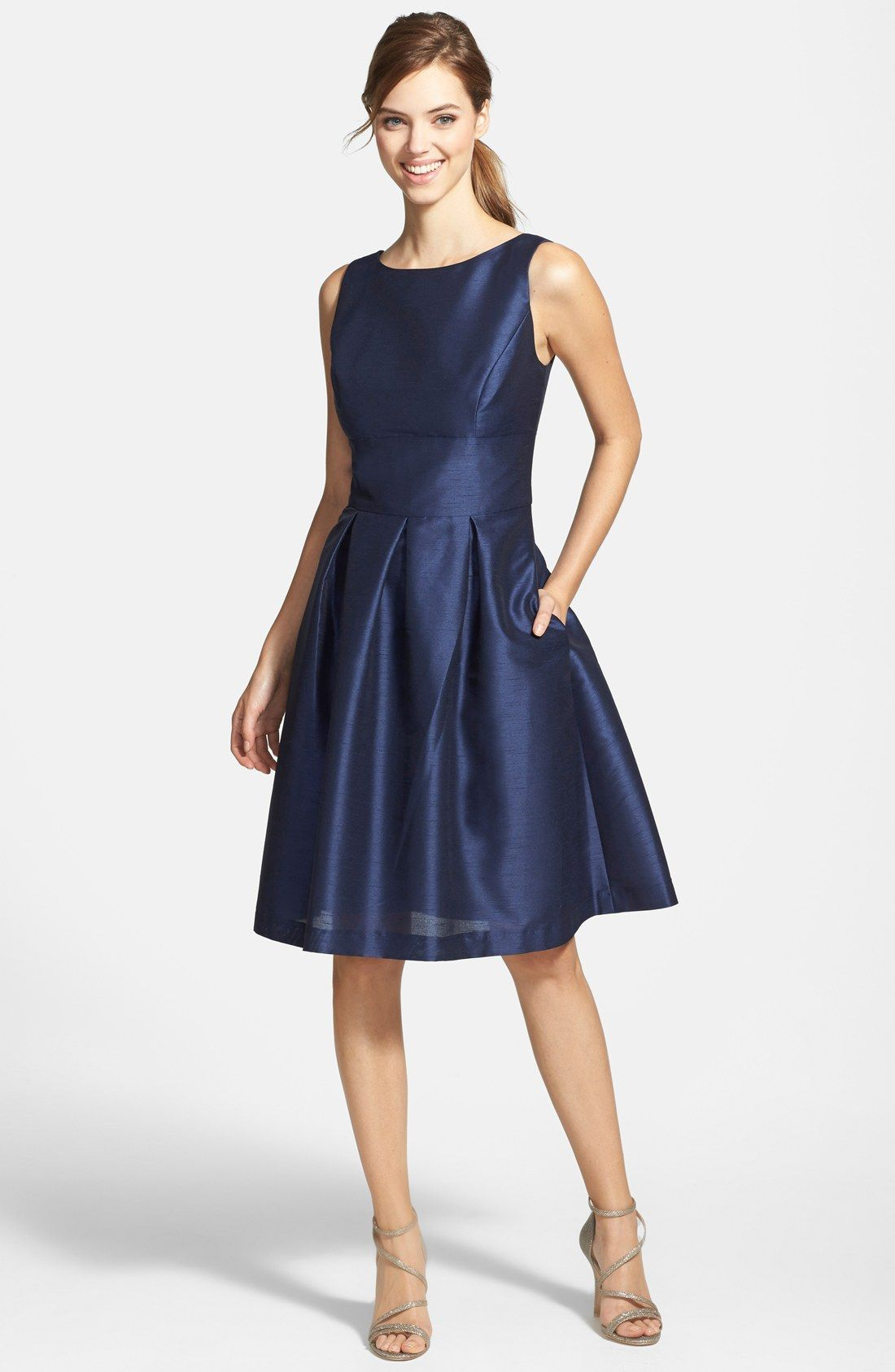 Dupioni fit u flare dress alfred sung fit flare dress and gowns