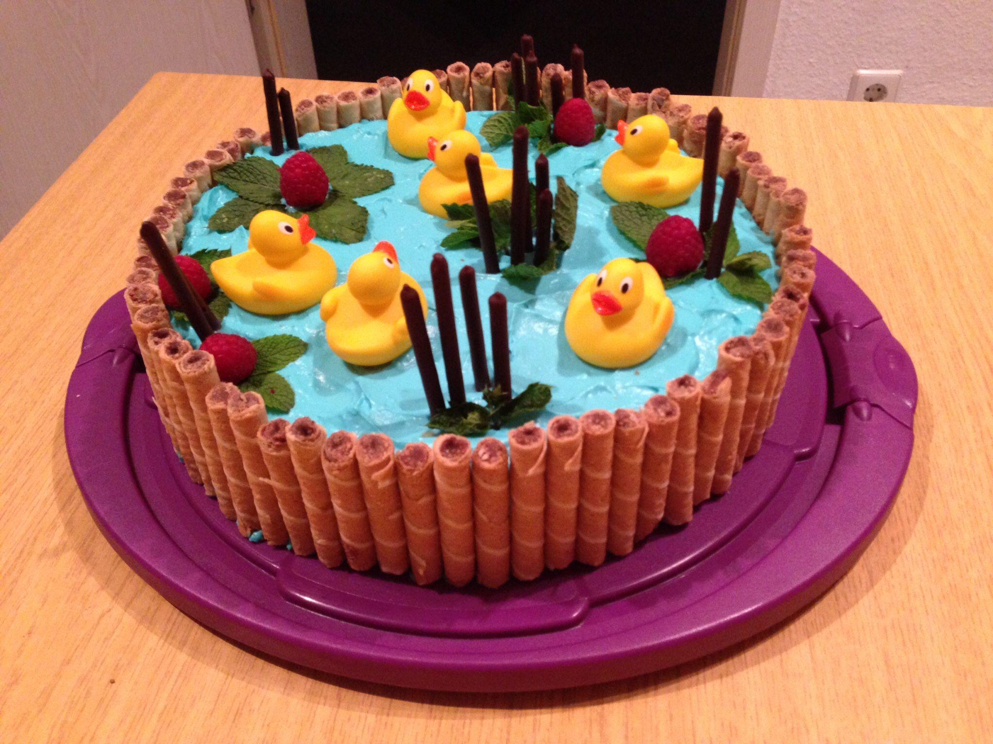 Entchen Torte Geburtstagstorte Kinder Kuchen Ideen Geburtstagstorte