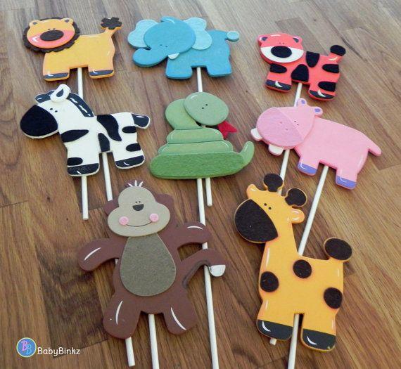 Dschungel-Tier-Formen Kuchen Spitzenwerken oder von BabyBinkz