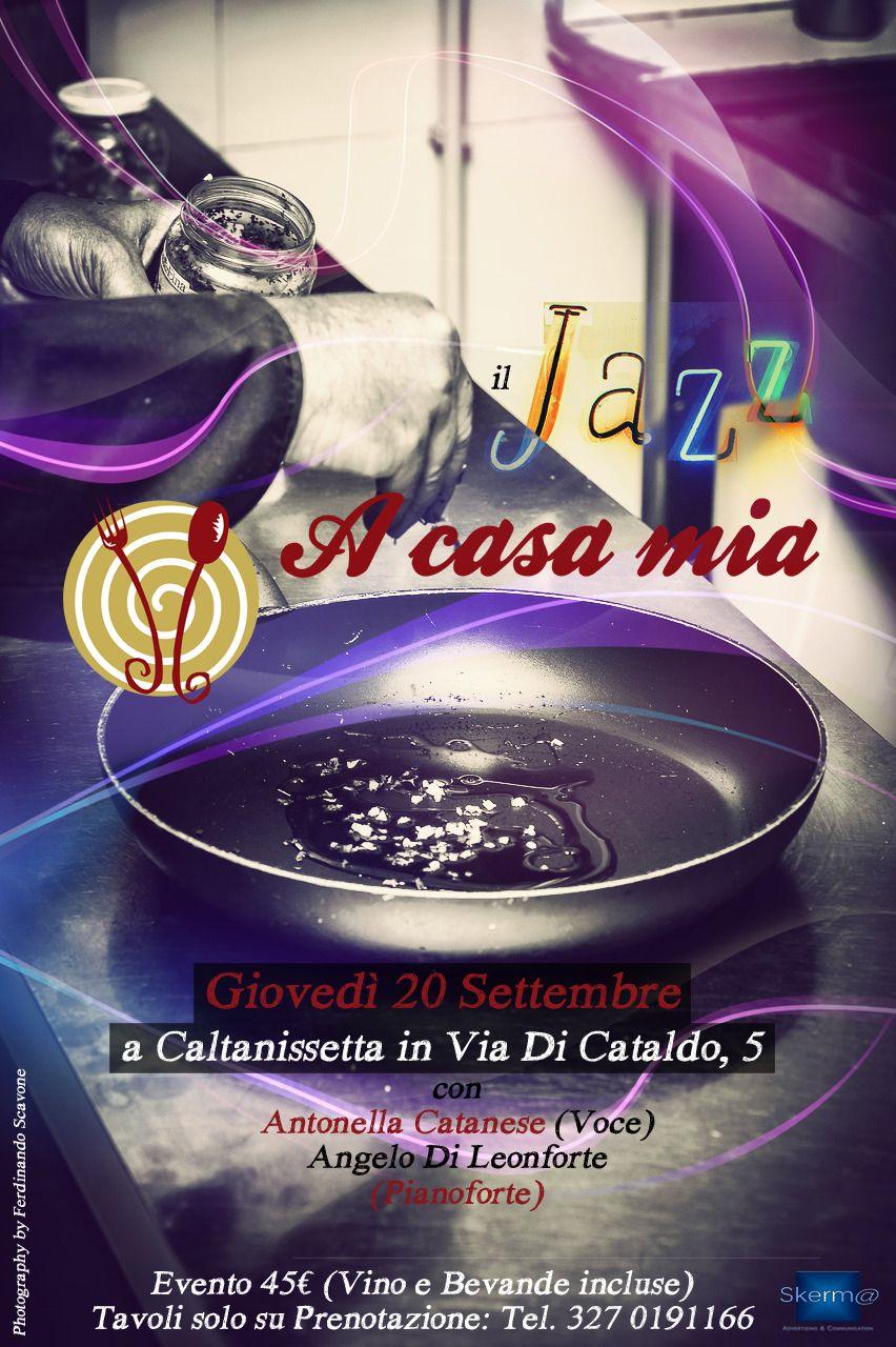 Ogni mese A Casa Mia organizza degli eventi culturali che uniscono musica e buona cucina