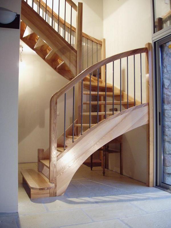 Escalier Bois Balustres Inox Escalier En Fr Ne Olivier Sans Contremarches Balustres Inox