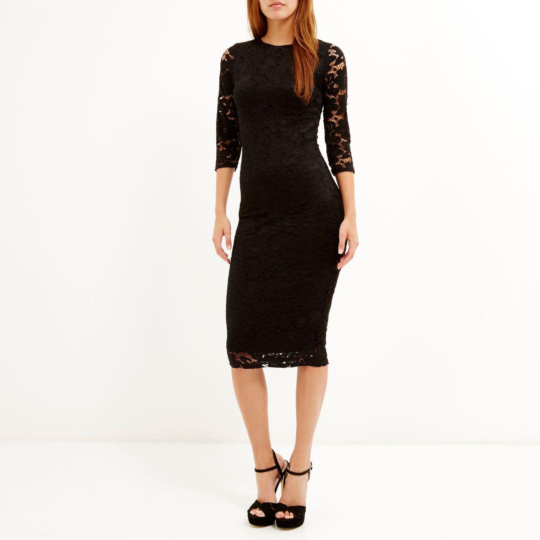 Long sleeved black dress river island longsleeve dress pinterest