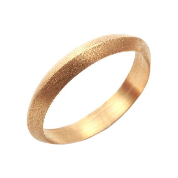 18k Gold Ring Gold Wedding Band Rustic Men S Women S Etsy Yellow Gold Wedding Rings Band Gold Wedding Band Womens Wedding Bands
