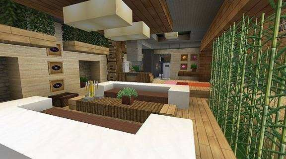Minecraft Living Room Minimalist Captivating Interior ...