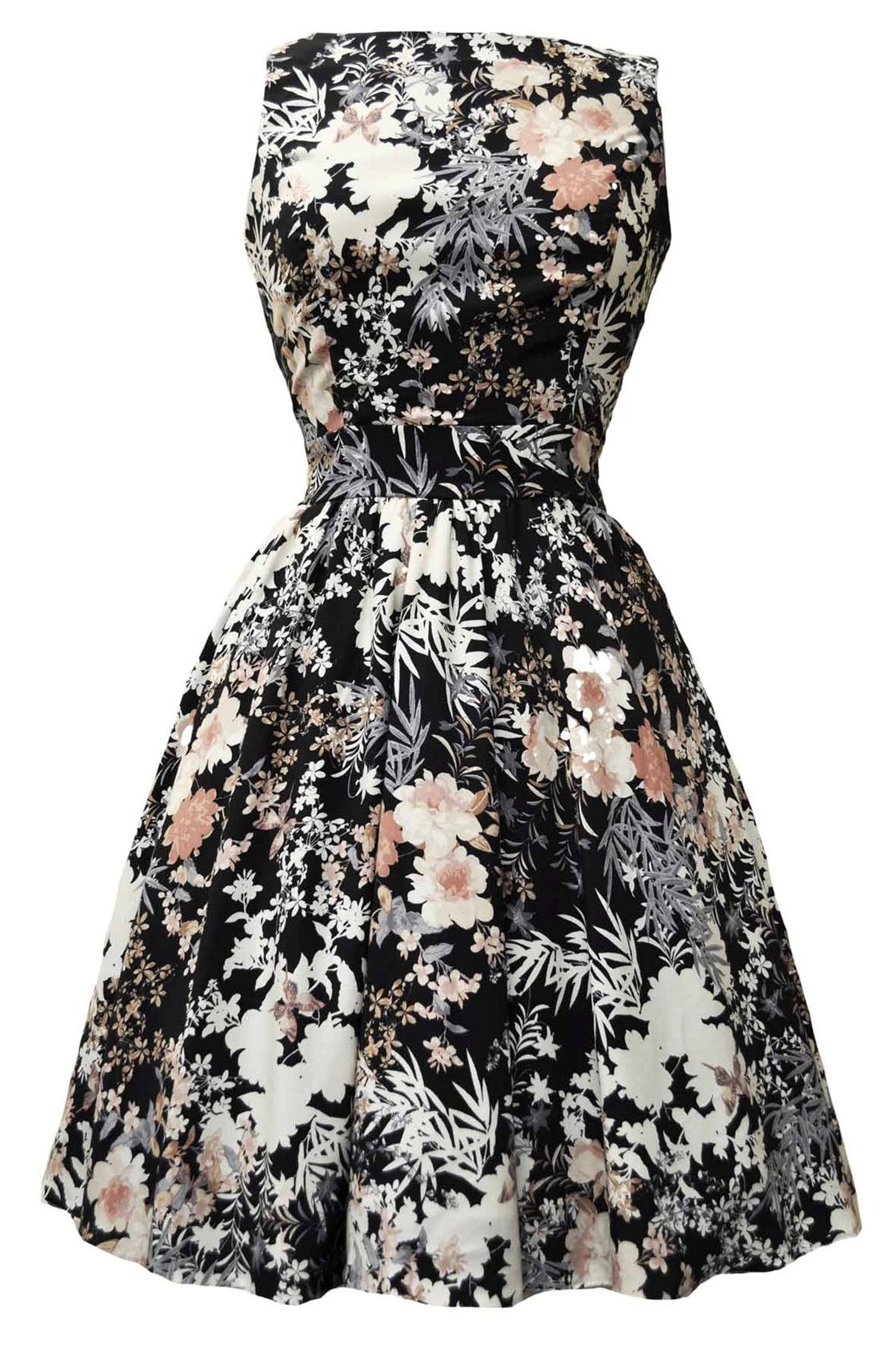 Winter Floral Tea Dress | Kleider | Pinterest | Kleider