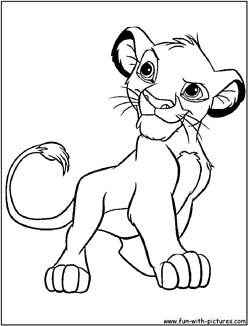 coloriage roi lion | disney coloring | Pinterest | Lion king crafts ...