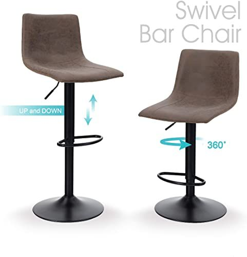 New Bar Stool Set 2 Swivel Counter Height Chairs