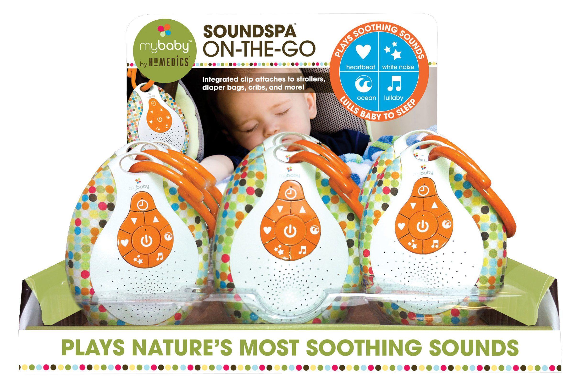 Mybaby Homedics Soundspa On The Go Portable Sound Machine White