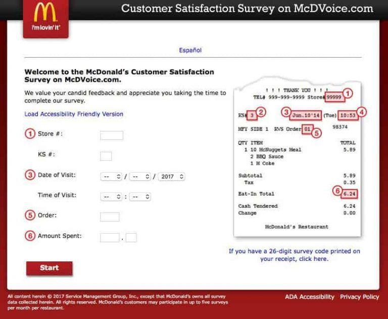 Mcdvoice Survey Step 07 Surveys Free Food Customer Satisfaction