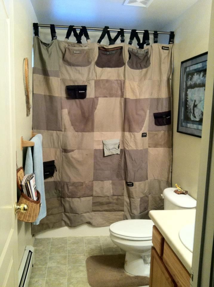 Can I Please Do This One Day Recycled Wader Shower Curtains For