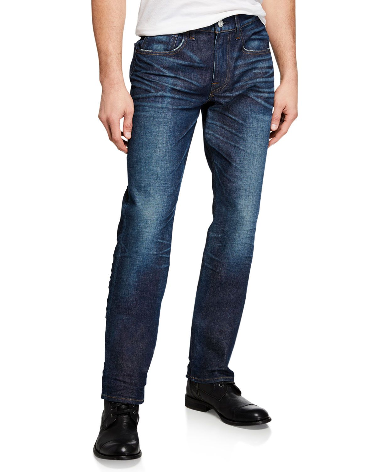 c7e711128ca HUDSON MEN'S BLINDER BIKER DESTRUCTED SKINNY JEANS. #hudson #cloth ...