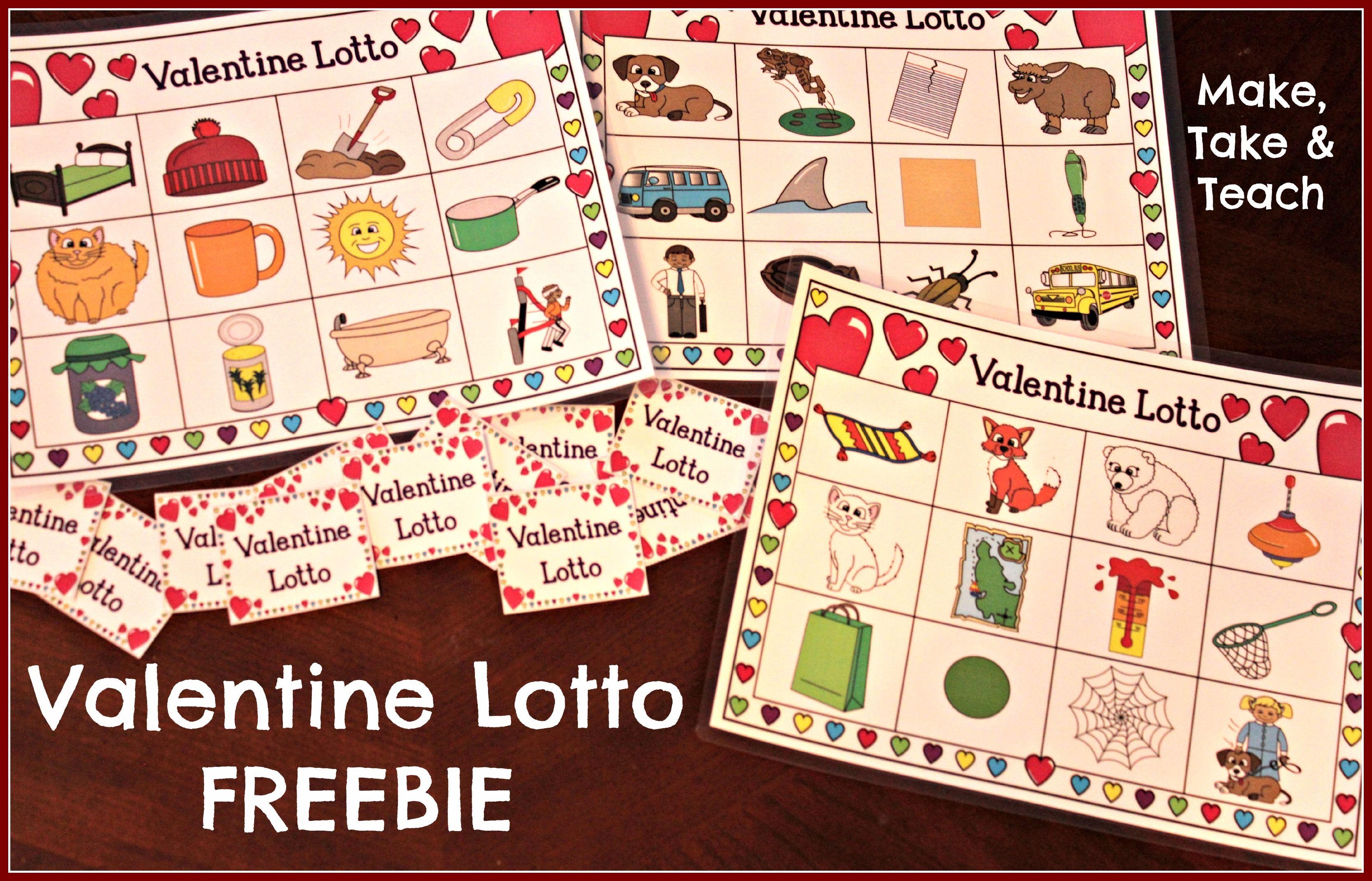 Valentine Lotto Freebie Make Take Amp Teach