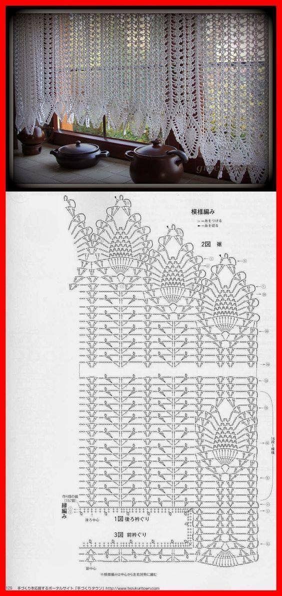 Window treatments: Crochet Pineapple | dantelaj | Pinterest ...
