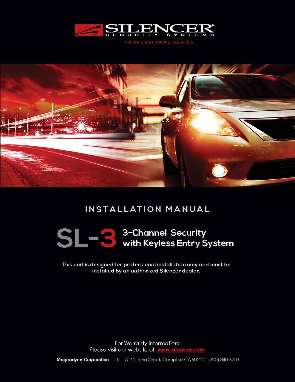 Silencer Sl 3 Installation Manual Installation Manual User Manual Manual