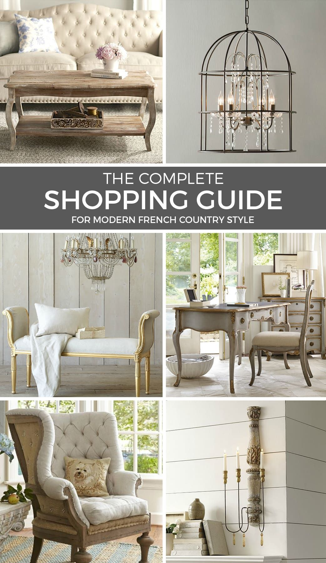 It doesn't have to cost a fortune to buy gorgeous French Country furniture! These affordable pieces will deliver modern French style within any budget. ----- #frenchcountrydecorating #frenchcountryshopping #frenchcountryfurniture #frenchcountry #frenchcountrydecor #frenchdecoratingideas #modernfrenchcountry #modernfrenchfarmhouse #elegantdecor #romanticdecor #cottagechic #farmhousestyle #vintagestyle #decoratingonabudget #frenchdecor
