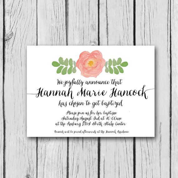 Hand-painted Roses On This Invitation. Matching Program