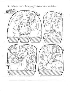 Kleurplaten Rond Kerstmis.Kerstfiguren Kerststal Google Zoeken Kerst Knutselen