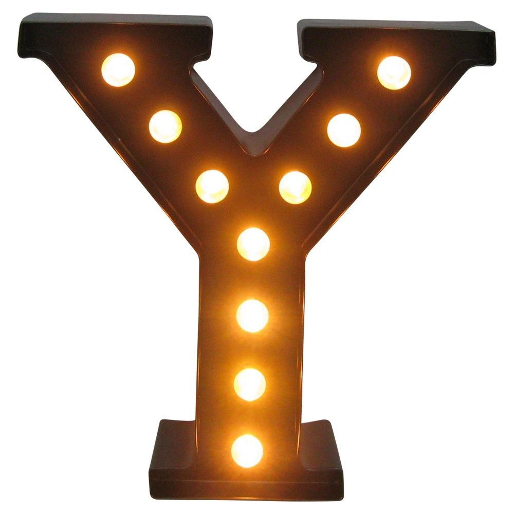 metal marquee letter small y led threshold black