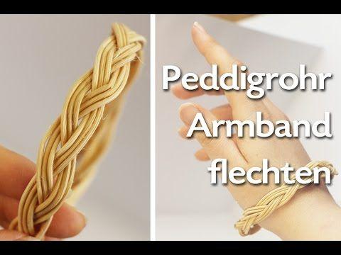 Lederarmband flechten rund  Peddigrohr Armband flechten - Anleitung - Talu.de | Flechten ...